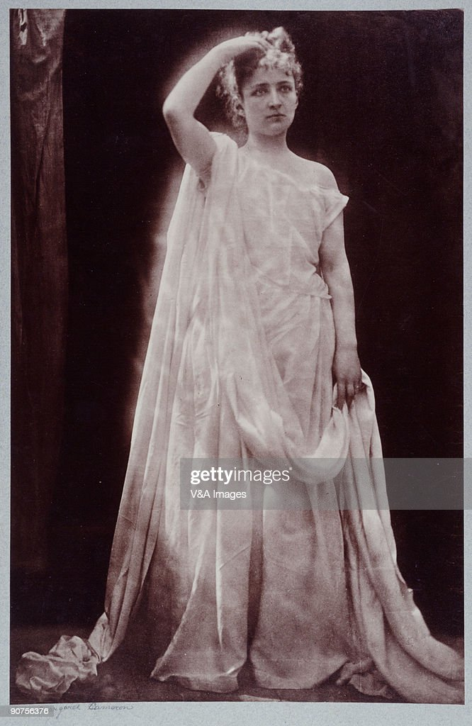 Photograph by Julia Margaret Cameron of actress Isabel Bateman Bateman acted leading roles with Henry Irving throughout the 1870s appearing in his...