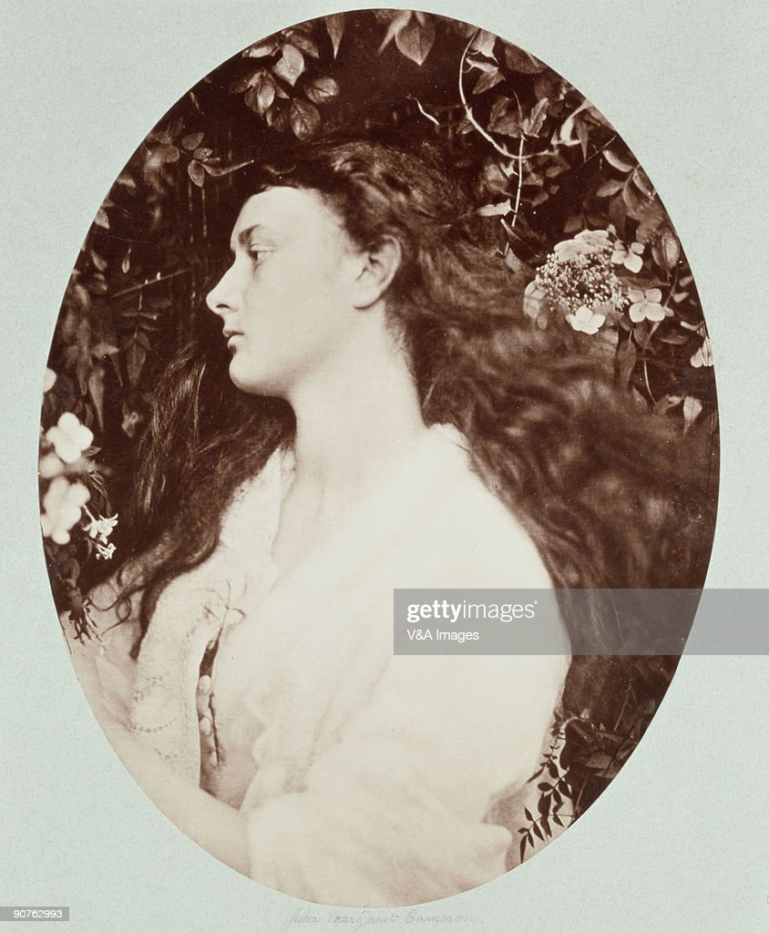Photograph by Julia Margaret Cameron (1815-1879) of Alice Liddell (1852�1934) who, as a child, was photographed by Lewis Carroll (Charles Dodgson). He wrote �Alice in Wonderland� and �Through the Looking Glass� for her. Alethea is an ancient Greek the word meaning honesty and sincerity. Cameron's photographic portraits are considered among the finest in the early history of photography. She set up a private studio at her Isle of Wight home at the age of 48, after her daughter gave her a camera, and she became expert at using the collodion wet-plate process. She used friends, servants and neighbours as subjects, including the scientists John Herschel and Charles Darwin, and the poet Alfred Lord Tennyson.
