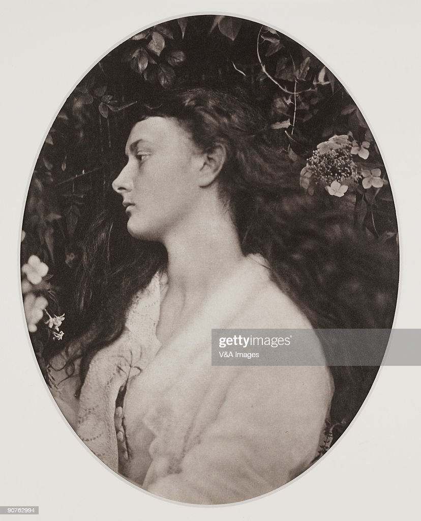 Photograph by Julia Margaret Cameron (1815-1879) of <a gi-track='captionPersonalityLinkClicked' href=/galleries/search?phrase=Alice+Liddell&family=editorial&specificpeople=977449 ng-click='$event.stopPropagation()'>Alice Liddell</a> (1852�1934) who, as a child, was photographed by Lewis Carroll (Charles Dodgson). He wrote �Alice in Wonderland� and �Through the Looking Glass� for her. Alethea is an ancient Greek the word meaning honesty and sincerity. Cameron's photographic portraits are considered among the finest in the early history of photography. She set up a private studio at her Isle of Wight home at the age of 48, after her daughter gave her a camera, and she became expert at using the collodion wet-plate process. She used friends, servants and neighbours as subjects, including the scientists John Herschel and Charles Darwin, and the poet Alfred Lord Tennyson.