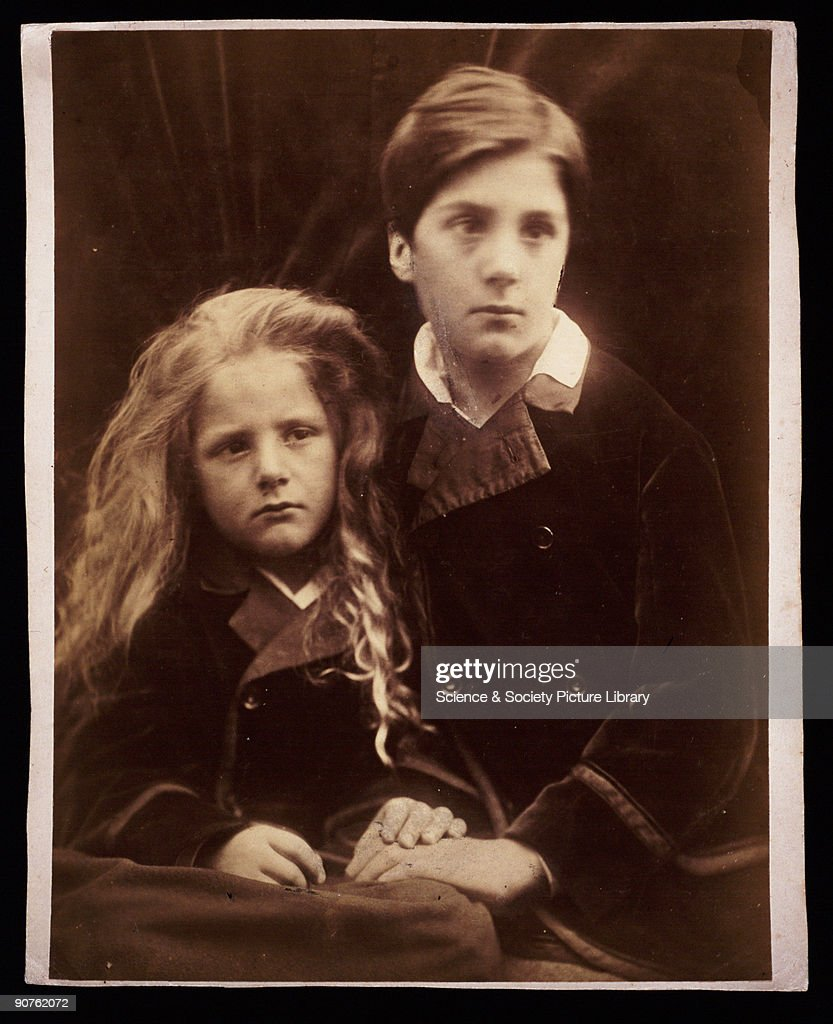 Photograph by Julia Margaret Cameron of Lionel Holland and Henry Holland Cameron�s photographic portraits are considered among the finest in the...