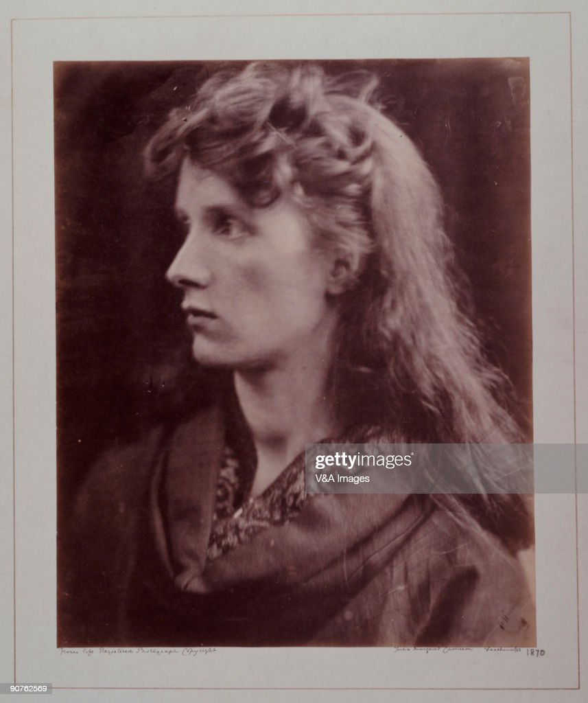 Photograph by Julia Margaret Cameron of Mrs Keene as Lady Clara Vere de Vere from Alfred Lord Tennyson�s poem Cameron's photographic portraits are...