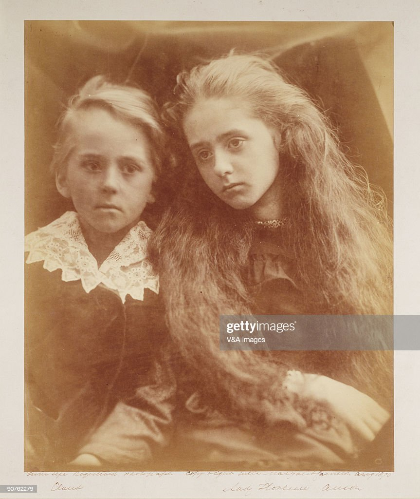 Photograph by Julia Margaret Cameron of the Earl of Lichfield�s children Lady Florence Beatrice Anson and the Hon Claude Anson Cameron's photographic...