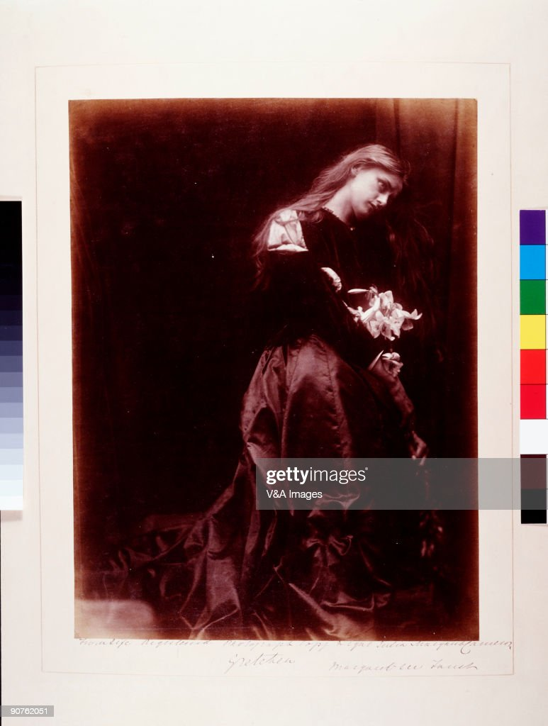 Photograph by Julia Margaret Cameron On other versions of this print Cameron wrote �Gretchen at the altar of the Virgin� Gretchen was a character...