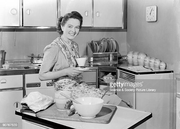 A photograph by Photographic Advertising Limited taken in the studio kitchen The company heavily promoted the kitchen and its authenticity appealed...