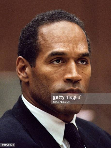 A photograph dated 29 September 1994 of OJ Simpson in a Los Angeles courthouse during his trial