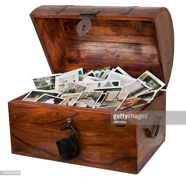 photograph filled treasure chest