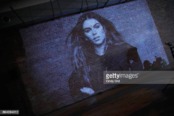 A photograph from the Hudson Jean collection is seen during Hudson Jean SS18 Preview Hosted by Kaia Gerber on October 20 2017 in New York City