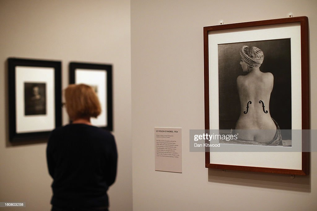 A photograph 'Le Violon d'Ingres' (R) hangs at the National Portrait Gallery on February 6, 2013 in London, England. The National Potrait Gallery are currently exhibiting the first major museum retrospective of Man Ray's portraits. The exhibition runs until May 27, 2013.