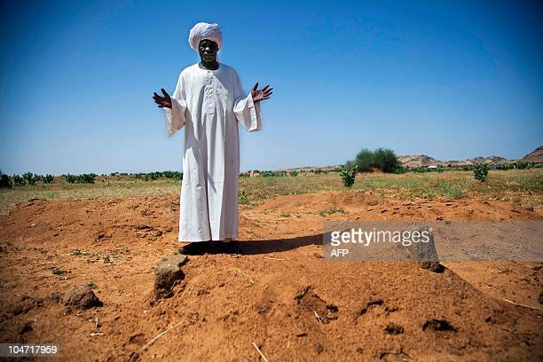 A photograph made available on October 4 by the United Nations and African Union Mission in Darfur shows new internally displaced refugee leader Adam...