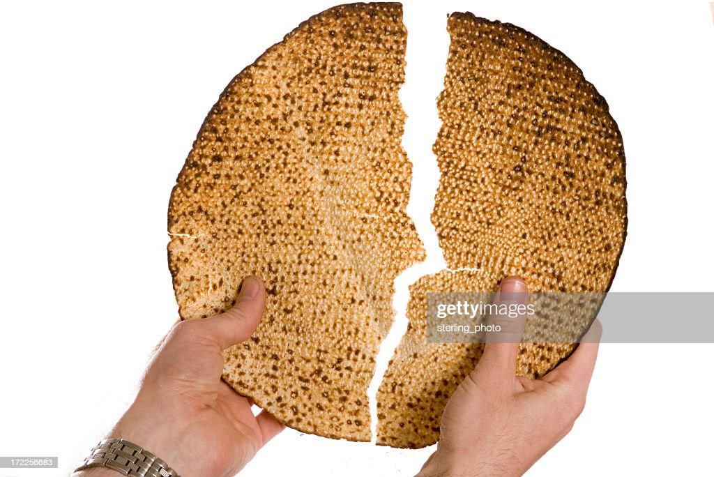 Matza at the seder : Stock Photo