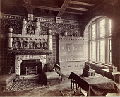 A photograph of a room at 9 Melbury Road Kensington London the home of William Burges He was an acclaimed English architect well known for his Gothic...