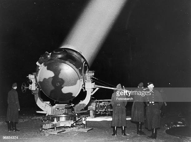 A Photograph of a Searchlight in Berlin to Defend Against Air Attacks circa 1940