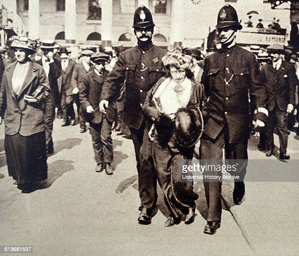Photograph of a Suffragette in the hands of the Police Dated 1913