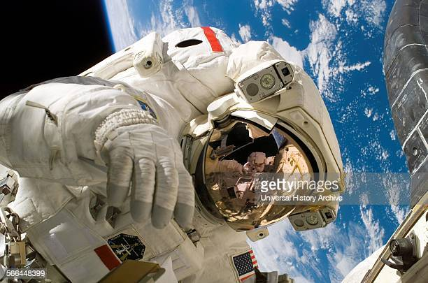 Photograph of Astronaut Piers Sellers during the third spacewalk of STS121 Dated 2006