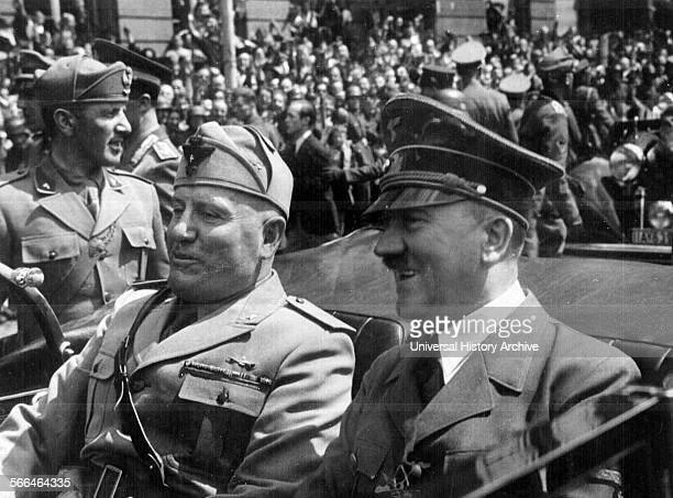 Photograph of Benito Mussolini and Adolf Hitler