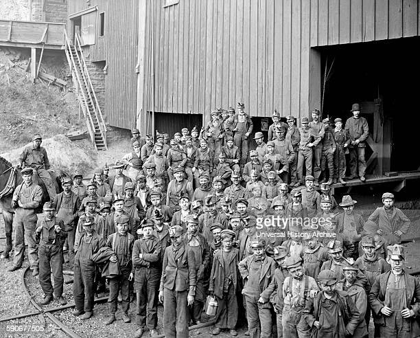 Photograph of Breaker Boys and Woodward Coal Breakers Kingston Pennsylvania Dated 1906