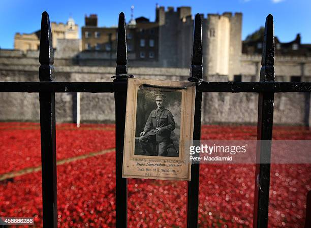 A photograph of Corporal Thomas William Belton of the Kings Shropshire Light Infantry who died in Belgium in World War One at the age of 25 is placed...