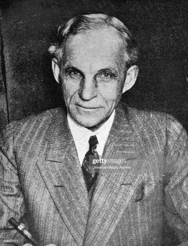 Photograph of <a gi-track='captionPersonalityLinkClicked' href=/galleries/search?phrase=Henry+Ford+-+Founder+of+Ford+Motor+Company&family=editorial&specificpeople=94471 ng-click='$event.stopPropagation()'>Henry Ford</a> (1863 - 1947), American industrialist and founder of the Ford Motor Company. 1919