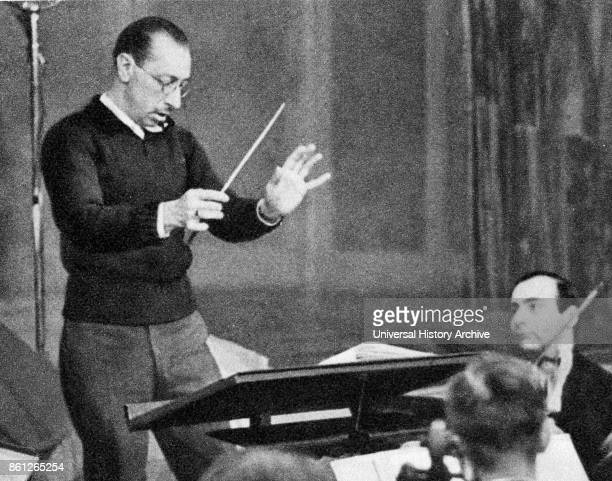 Photograph of Igor Stravinsky a Russian composer pianist and conductor Dated 20th Century