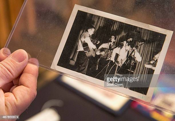 A 1962 photograph of Jerry Garcia with the Hart Valley Drifters is prepared for auction on March 27 2015 in Union Illinois The photograph which is...
