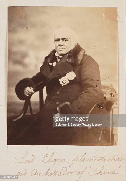 A photograph of Lord Elgin taken by Felice Beato Elgin was the son of the Earl of Elgin who collected the world famous Elgin marbles a group of...