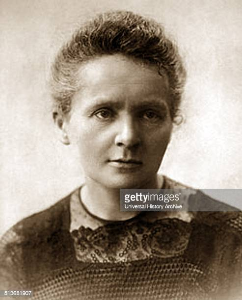 Photograph of Marie SklodowskaCurie a Polish and naturalizedFrench physicist Nobel Prize winner and chemist who conducted pioneering research on...