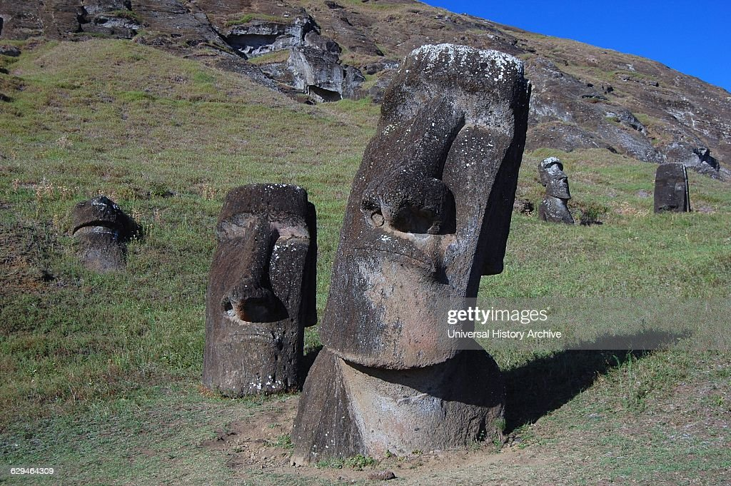 Image result for heads on easter island  getty images
