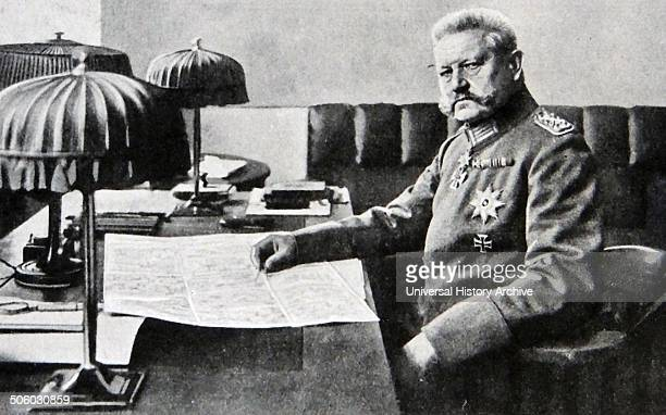 Photograph of Paul Von Hindenburg The second President of Germany and PrussianGerman field Marshal Dated 1917