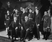 Photograph of President John Calvin Coolidge of the United States and President Gerardo Machado of Cuba in Washington DC Dated 1927
