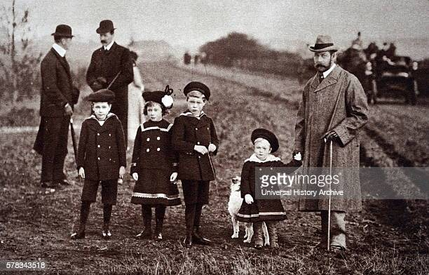 Photograph of Prince Albert Frederick Arthur George Prince Henry Duke of Gloucester Mary Princess Royal and Countess of Harewood and Prince George...