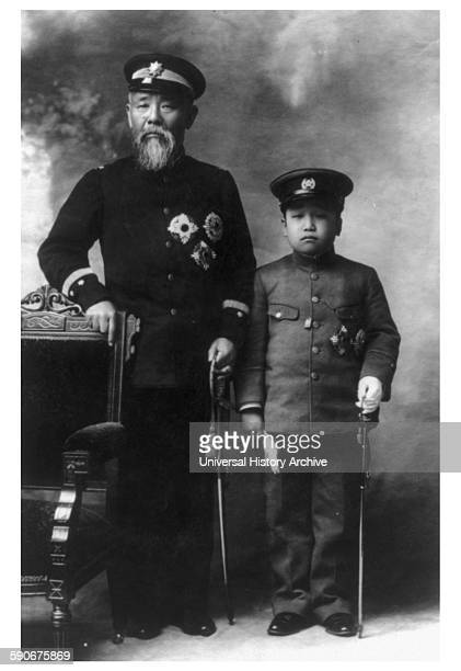 Photograph of Prince Ito Hirobumi of Japan samurai of Choshu Domain Japanese statesman four time Prime Minister of Japan genro and ResidentGeneral of...