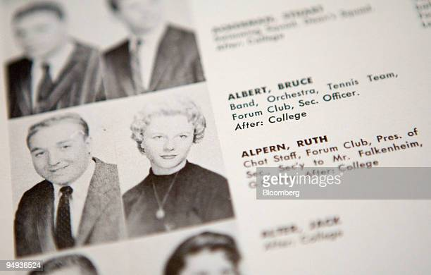 A photograph of Ruth Alpern now Ruth Madoff wife of Bernard Madoff founder of Bernard L Madoff Investment Securities LLC appears in the June 1958 Far...