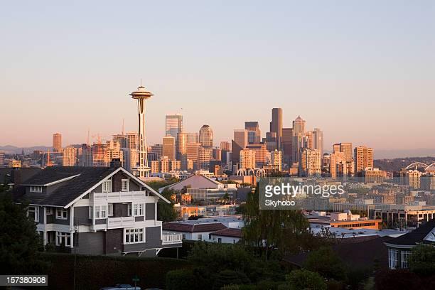 シアトルの夕日