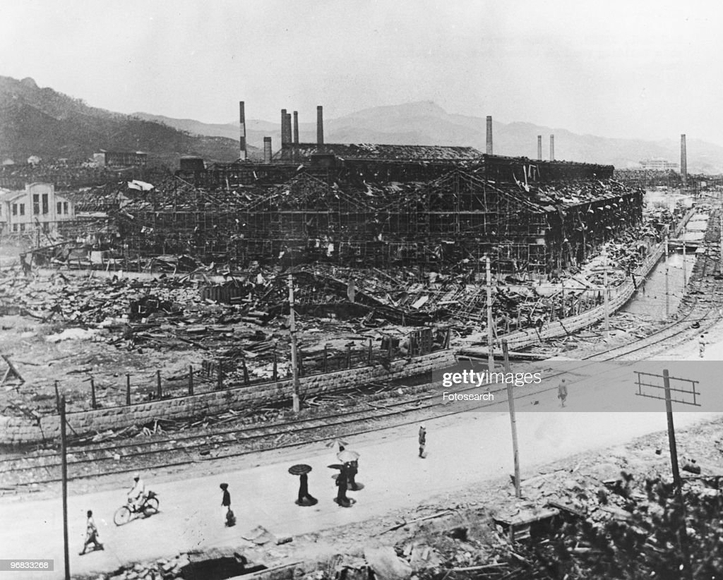 A Photograph of Steel Works of the Nagasaki Ship Building Yard as Viewed from the Shatokuji Temple circa 1945