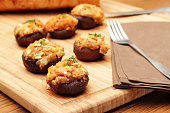 Crab meat stuffed Portobello mushrooms  Please see some similar pictures from my portfolio:  [url=/file_closeup.php?id=19016667][img]/file_thumbview_approve.php?size=2&id=19016667[/img][/url] [url=/fi