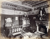 A photograph of the bedroom of William Burges an acclaimed English architect well known for his Gothic Revival style