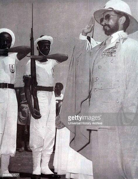 Photograph of the Emperor Haile Selassie Ethiopia's regent from 1916 to 1930 and Emperor of Ethiopia from 1930 to 1974 Dated 1940