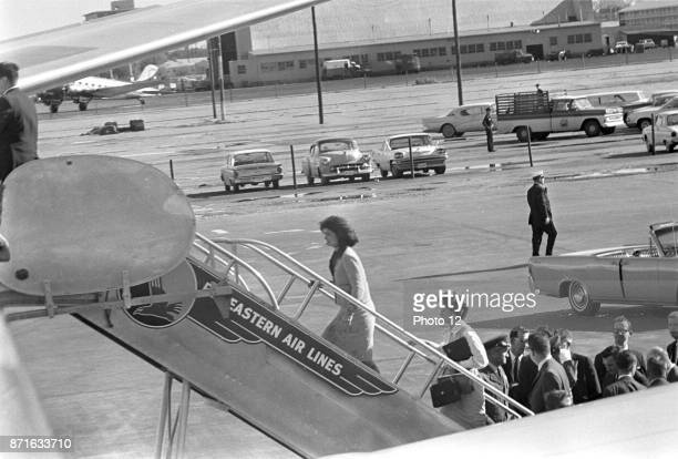 Photograph of the First Lady Jacqueline Kennedy boarding Air Force One Dated 1962