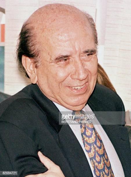 A photograph of the former president of the Republic of Venezuela Carlos Andres Perez 11 November 1999 Caracas Venezuela Foto del ex presidente de la...