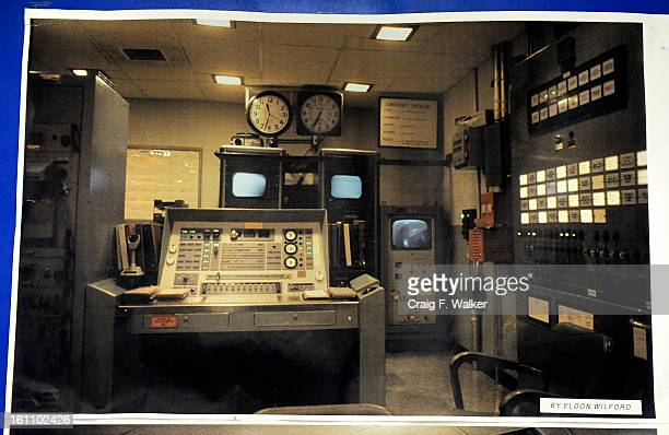 A photograph of the original command center hangs at the Altas E Missile Site in Greeley CO The deactivated site was one of the United States' first...