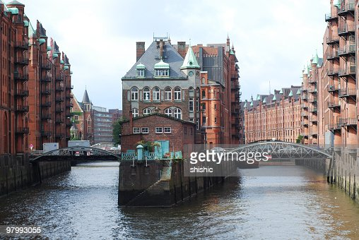 Photograph of The Speicherstadt in Hamburg, Germany