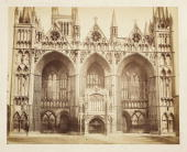 A photograph of the West Front of Peterborough Cathedral or the Cathedral Church of St Peter by Samuel Smith The cathedral was built in about 1180...