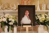 A photograph of Tin Nguyen who was one victims who died in the shootings in San Bernardino on Wednesday on display at her Santa Ana home on December...