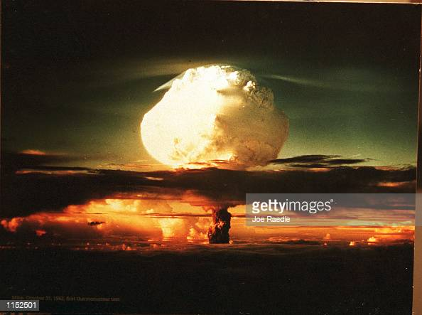 A photograph on display at The Bradbury Science Museum shows the first thermonuclear test on October 31 1952 The museum is Los Alamos National...