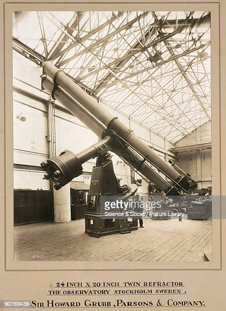 Photograph showing the interior of the optical factory works of the company of Sir Howard Grubb Parsons and Co in NewcastleuponTyne England Dated...
