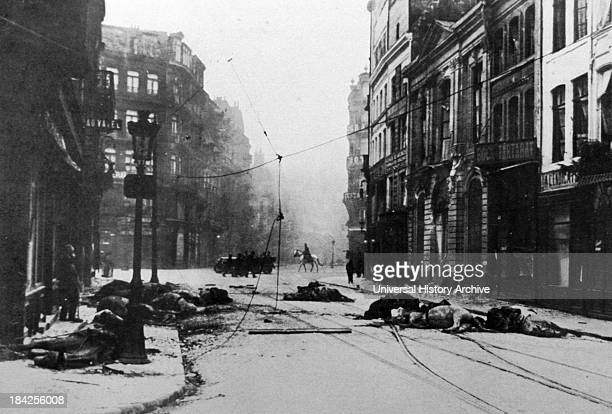 Photograph showing the Ravages of World War I in Lille France Circa 1914