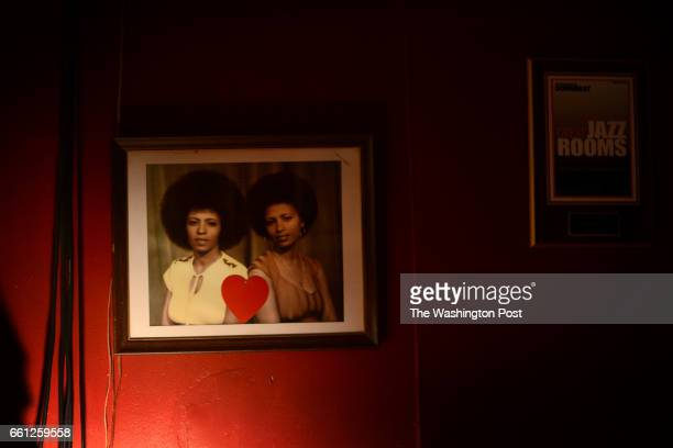A photograph showing the twin sisters Kelly and Maze Tesfaye opened Twins Jazz a live jazz club in Washington DC 30 years ago and kept in business...