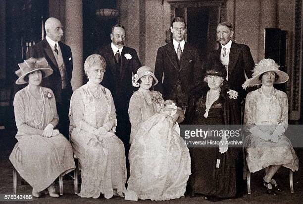 Photograph taken during the Christening of Princess Elizabeth the eldest daughter of Prince Albert Frederick Arthur George and Lady Elizabeth...