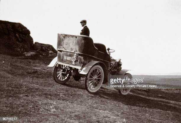 Photograph taken from an album of images collected by English motorist motor car manufacturer and aviator Charles Stewart Rolls showing a RollsRoyce...