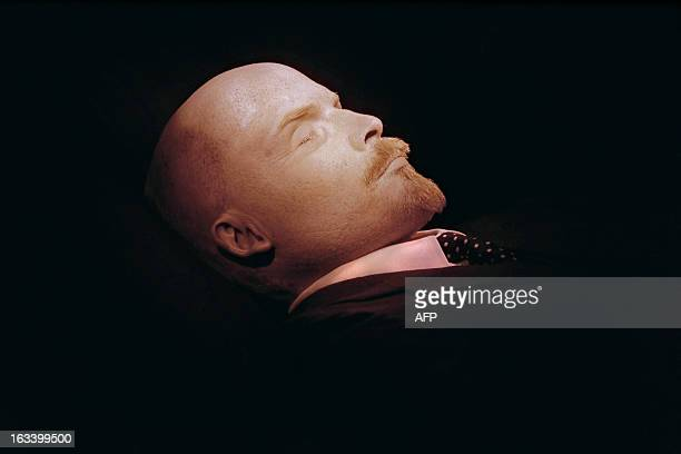 Photographed for the first time in 30 years the embalmed body of Russian Bolshevik revolutionary leader and Soviet Union founder Vladimir Ilyich...